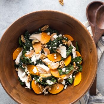 Citrus Kale Salad with Blood Orange Vina...