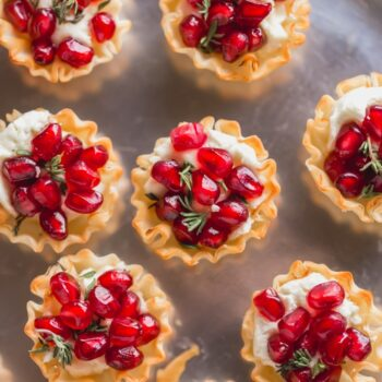 Pomegranate Goat Cheese Bites