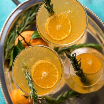 Rosemary Clementine Sparkler (Mocktail)