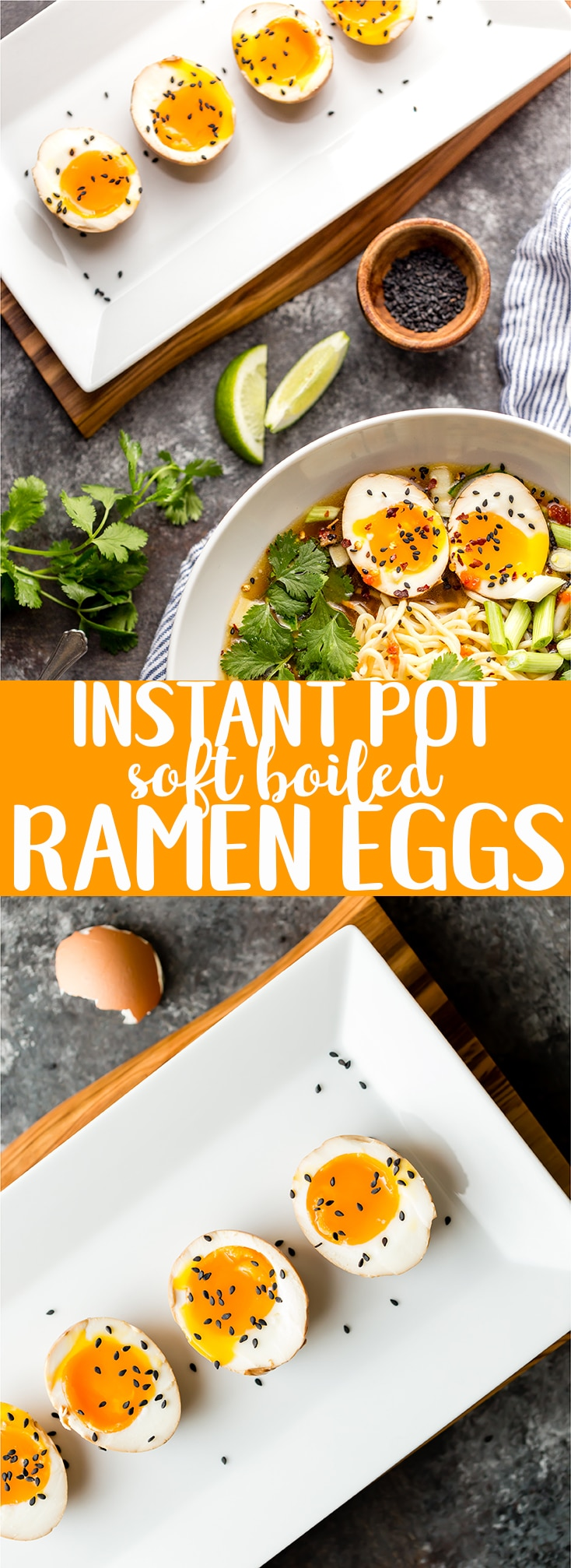 This Instant Pot Ramen Egg Recipe will make the perfect topping for your ramen at home! | Soft boiled Egg for ramen | Instant pot boiled egg | ramen egg recipe | Instant pot ramen egg | how to make a ramen egg | Japanese Marinated Egg | Easy soft cooked ramen egg
