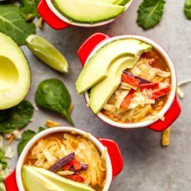 Healthy Slow Cooker Chicken Tortilla Sou...