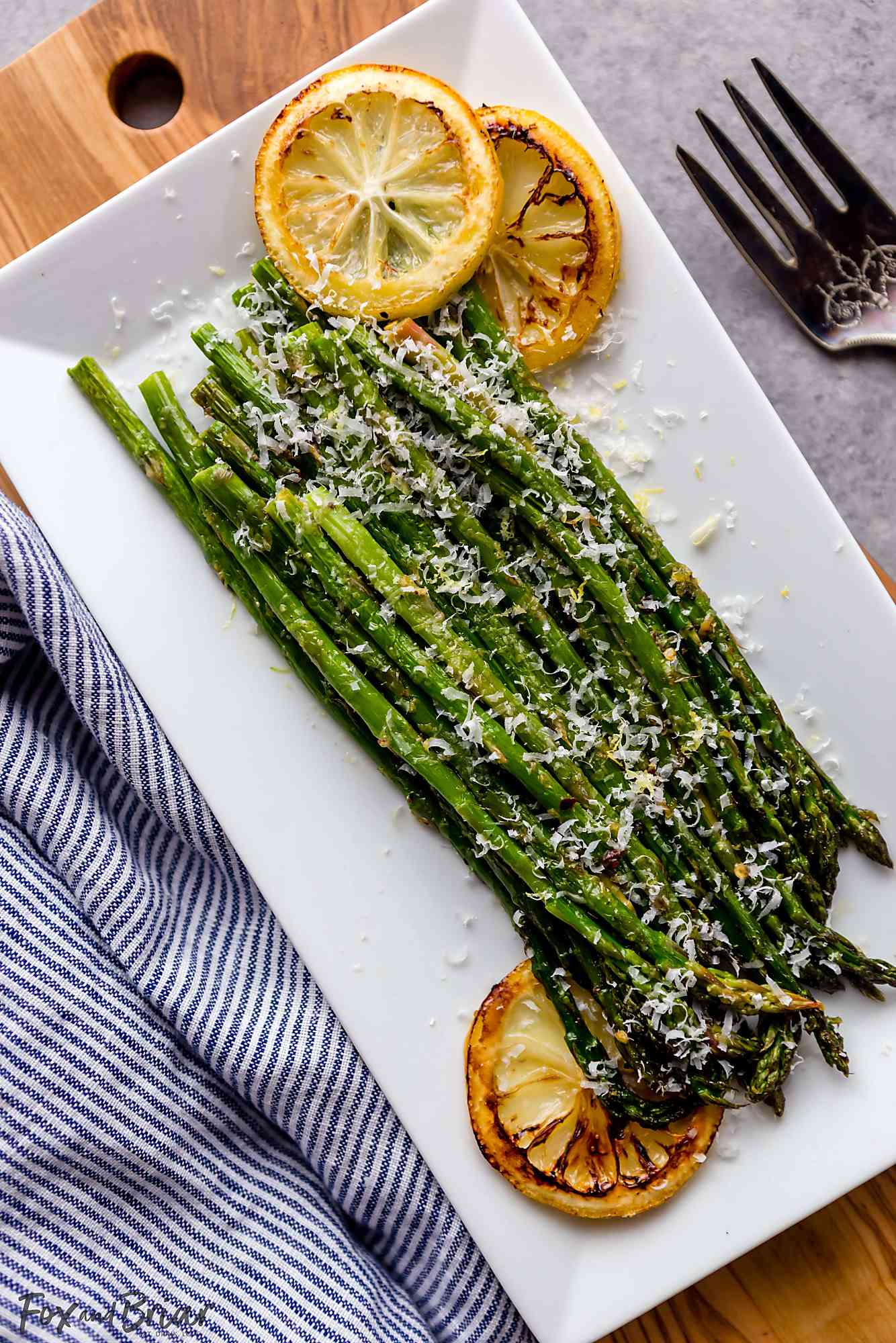 Oven Roasted Asparagus with Garlic, Lemon and Parmesan