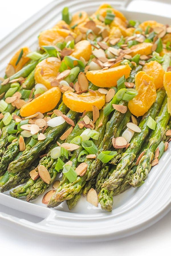 Roasted ASparagus and Tangerines by The Lemon Bowl