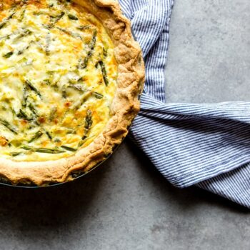 Crab, Asparagus and Leek Quiche Recipe
