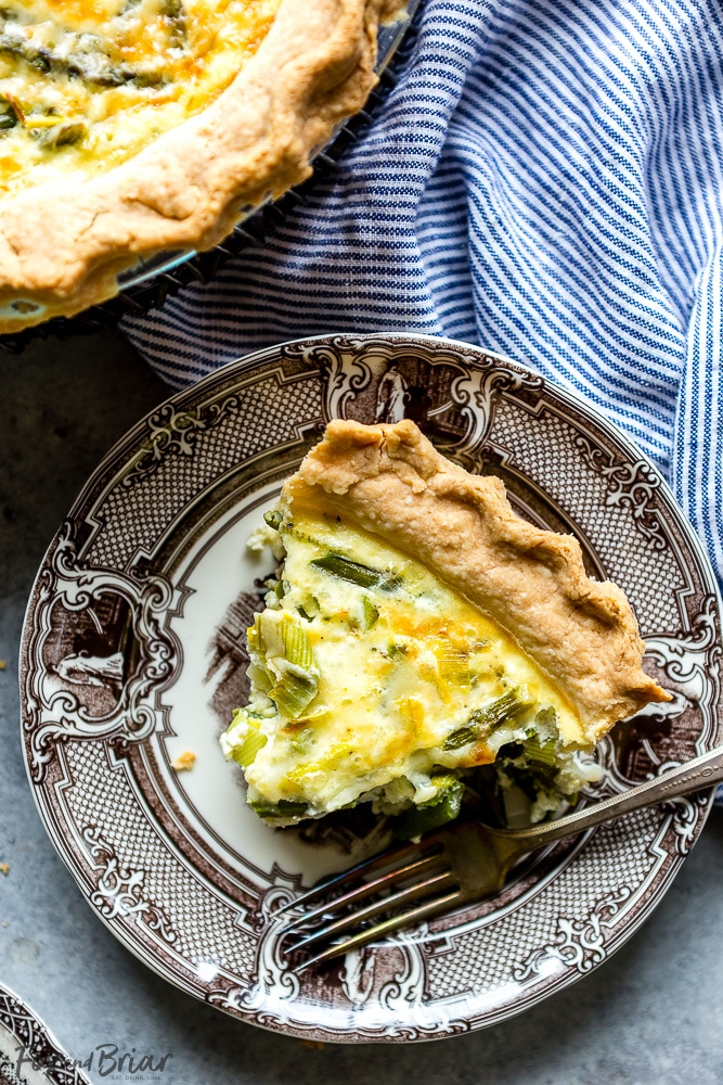 Crab, Asparagus and Leek Quiche by Fox and Briar