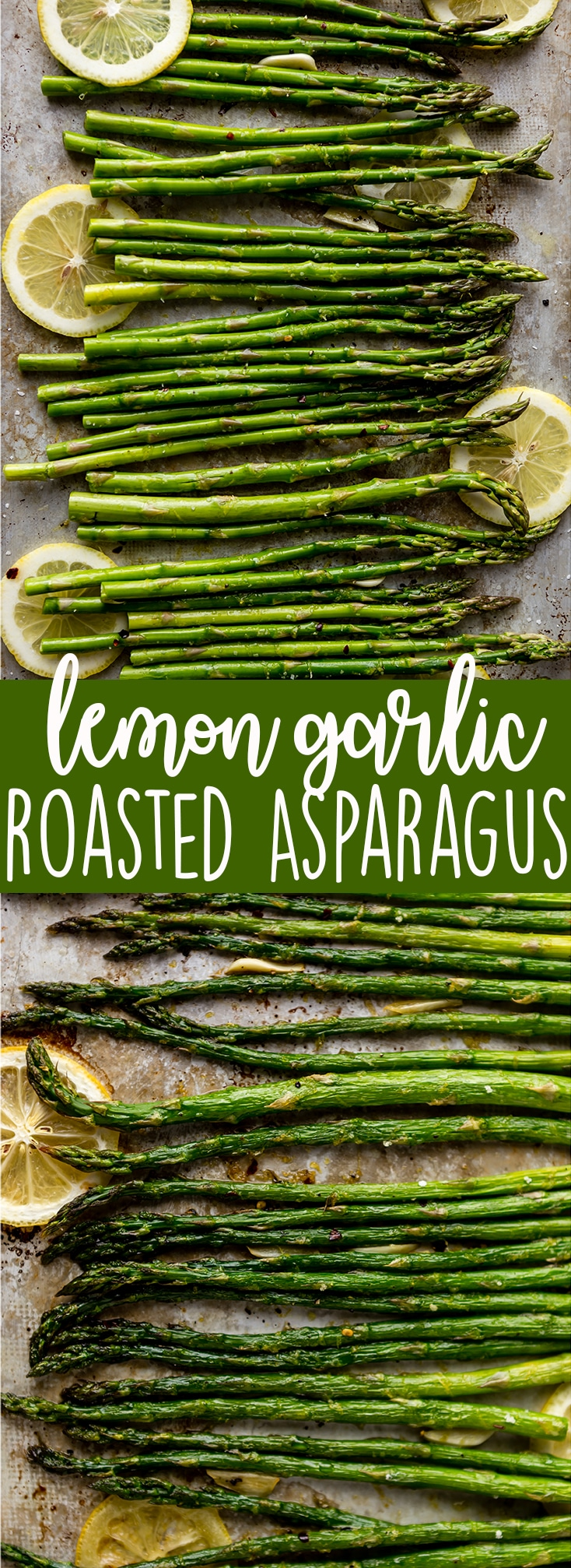 Lemon Garlic Roasted Asparagus long