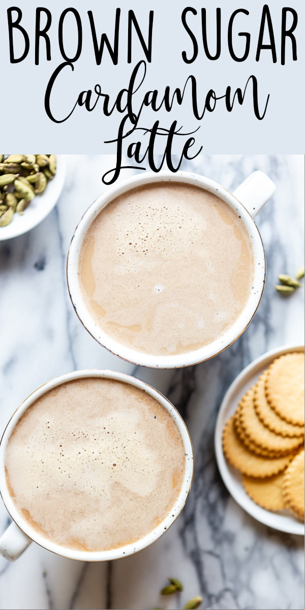 How to make a Brown Sugar Cardamom Latte at home without any fancy equipment. Try an alternative to the Pumpkin Spice Latte for fall! | Cardamom coffee | Cardamom latte | Cardamom Syrup | Cardamom recipes | Fall Recipes | Homemade latte