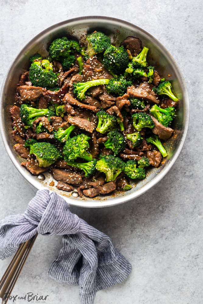 This Beef and Broccoli is better than takeout!  Make this easy Beef and Broccoli at home in under thirty minutes! | Beef Recipe | stir fry | flank steak recipe | Chinese food | Takeout fake out | Quick dinner recipe | Easy dinner recipe