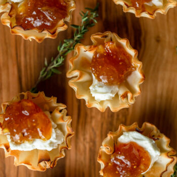 Fig and Goat Cheese Bites in Phyllo Cups...