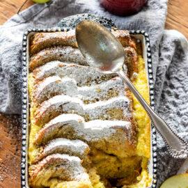Apple Cardamom Bread Pudding