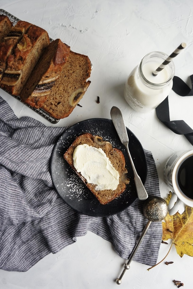 This delicious, moist and fluffy banana bread is so easy to make and even easier to eat! With the addition of my favorite spices, it's the perfect breakfast treat to warm you up on a chilly morning!   Easy banana bread recipe   Moist banana bread   Simple Banana Bread   with cinnamon