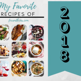 My Favorite Recipes of 2018