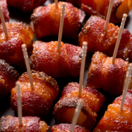 Brown Sugar Bacon Wrapped Pineapple Bite...