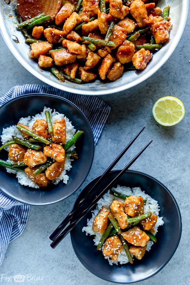 Honey Lemon Chicken Stir Fry | Easy chicken stir fry recipe | Chinese Lemon Chicken recipe | Chicken and green beans | Chicken breast recipes | Healthy dinner recipe | Easy dinner recipe | 30 minute dinner | takeout at home | Chicken and veggie stir fry | Healthy chicken breast recipe