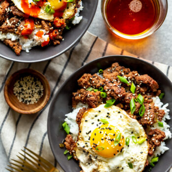 Korean Ground Beef Bowls