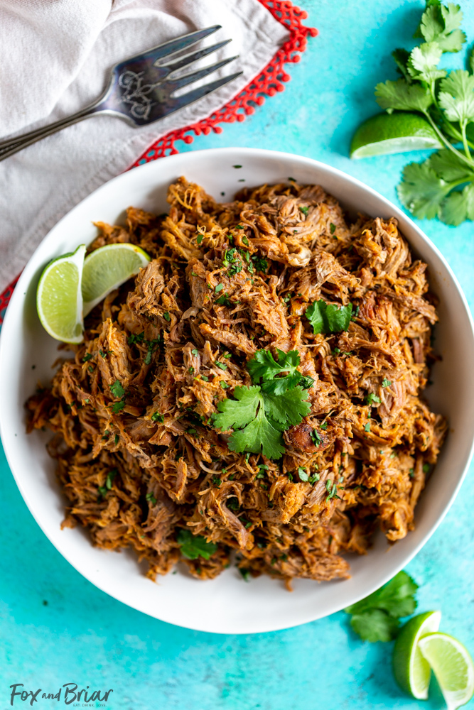 Slow Cooker Pork Carnitas Mexican Pulled Pork