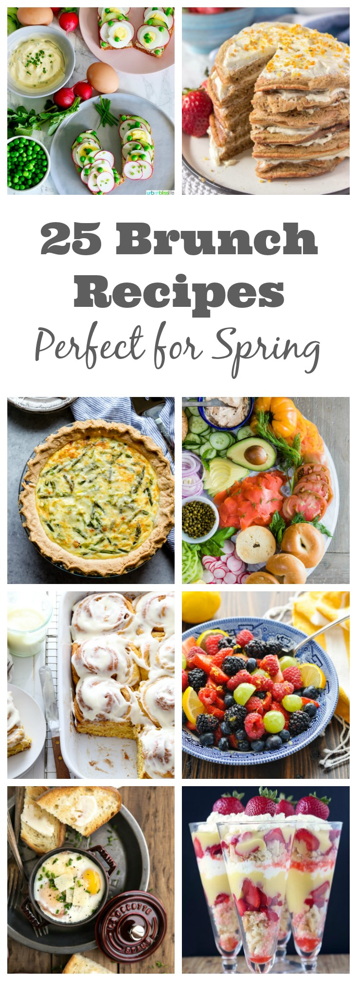25 Brunch Recipes Perfect for Spring - Spring has so many fantastic brunch opportunities.  Easter, Mother's Day, Bridal Showers, Baby Showers - or just a regular Sunday Brunch. I've rounded up some of the best brunch recipes for Spring!