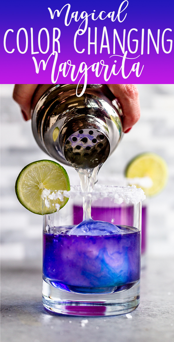 Pin image for color changing margarita with text overlay