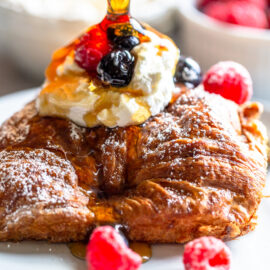 Overnight Croissant French Toast Bake
