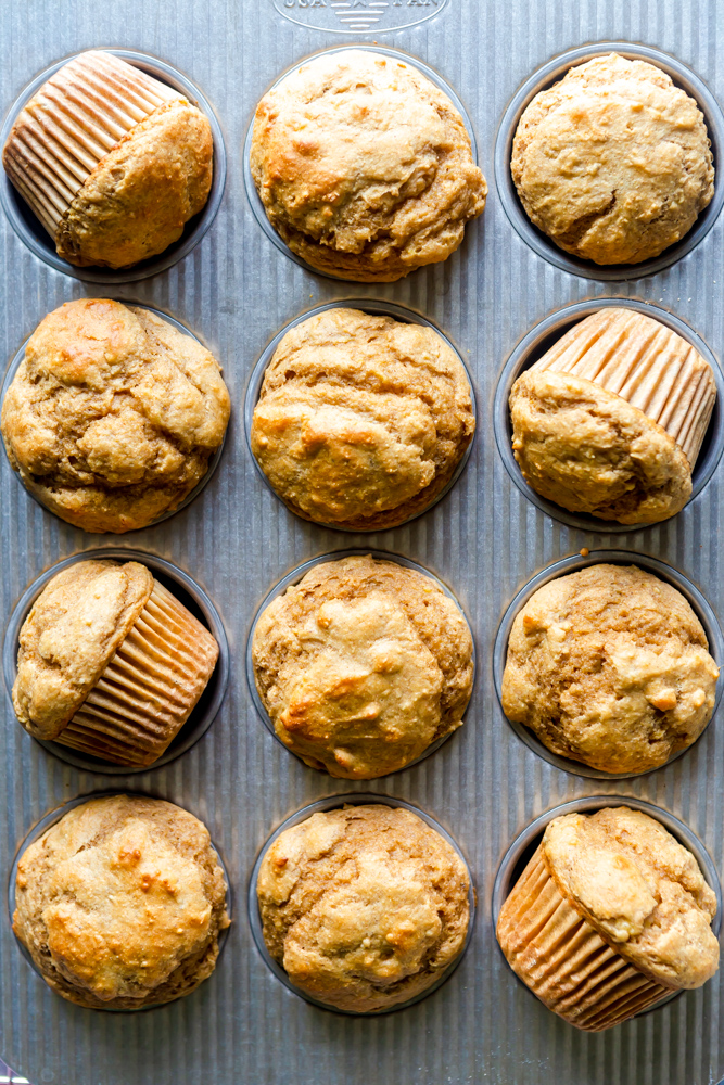 Healthy Peanut Butter Banana Muffins