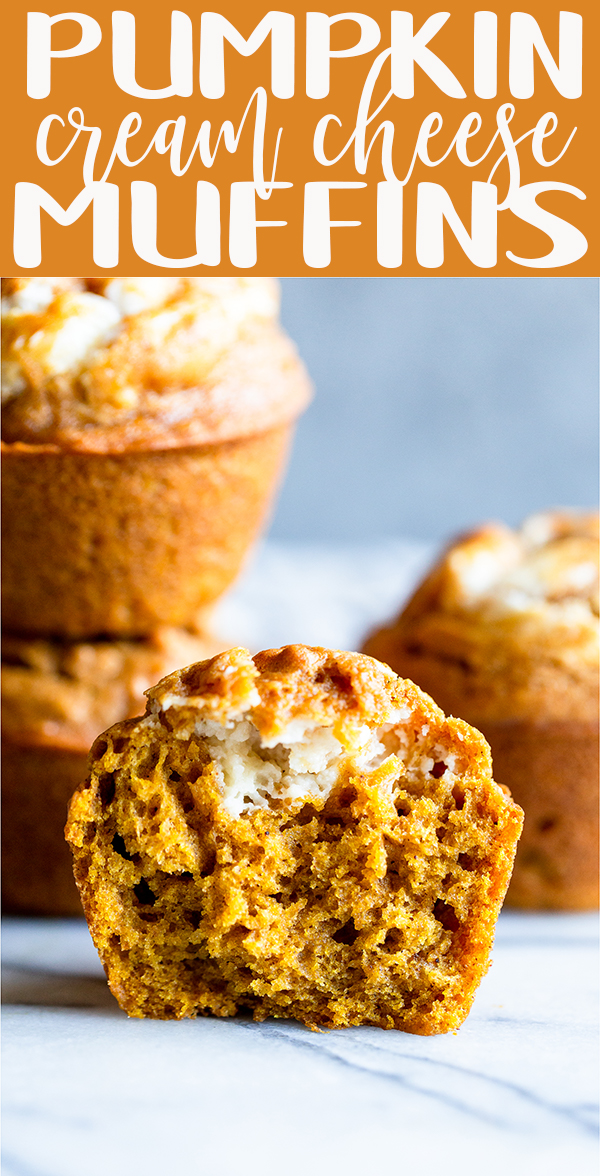 pin image for Pumpkin Cream Cheese Muffins