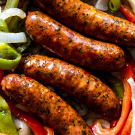 Sausage, Peppers and Onions Sheet Pan Di...