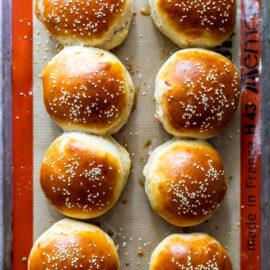 40 minute hamburger bun recipe