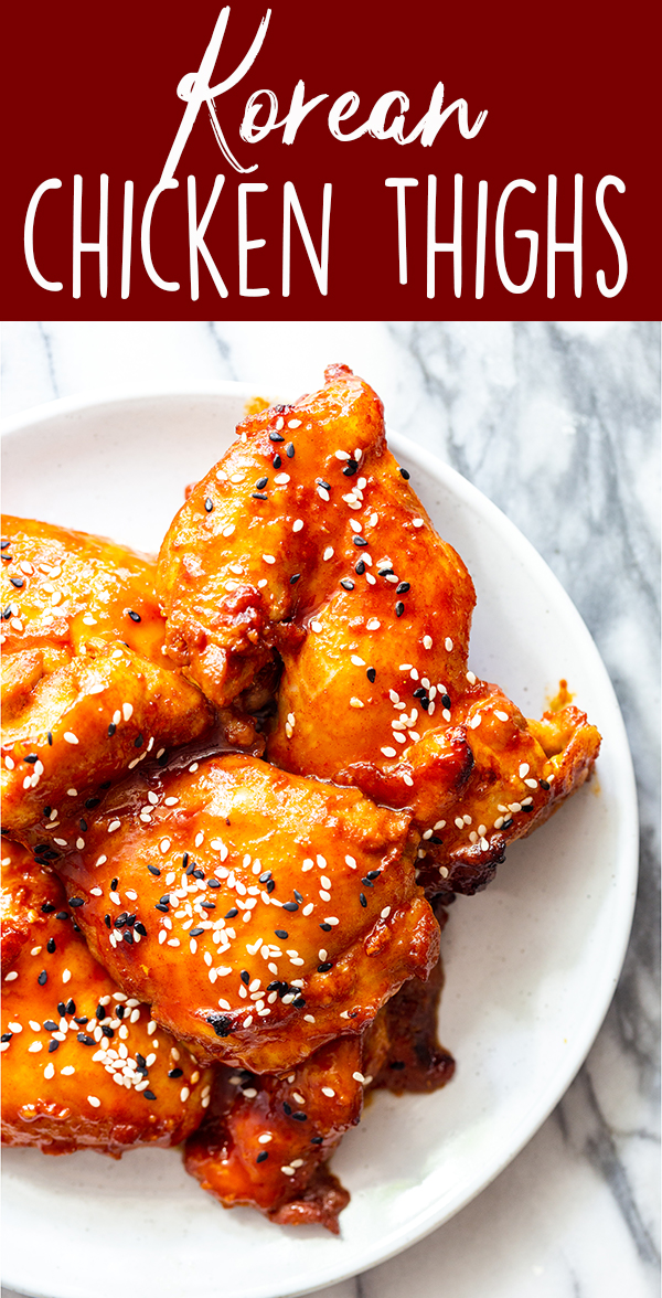 pin image for Korean Chicken Thighs