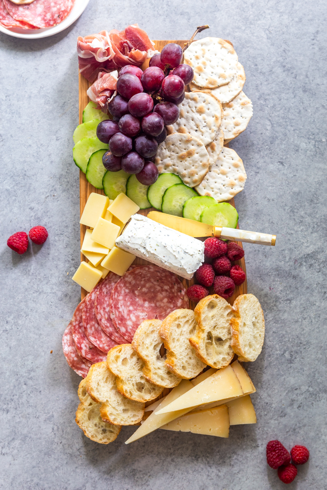 Simple summer snacking board