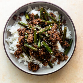 Green Bean and Ground Beef Stir Fry