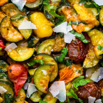 Sauteed Zucchini and Cherry Tomatoes