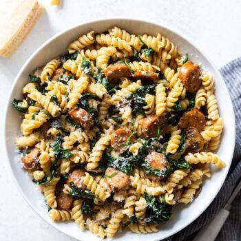 20 minute Sausage and Mushroom Pasta